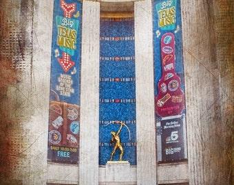 "Dallas, Texas - ""Dallas State Fair Aztec Sculpture"" (Image is vertical)"