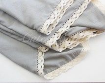 Lace Double Layered  Muslin Cotton Gauze Swaddle Blanket, Swaddle Blanket, Baby Receiving Blanket, Soft Lightweight Cotton Blanket