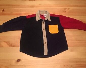 McKids Corduroy Colorblock Shirt 24M