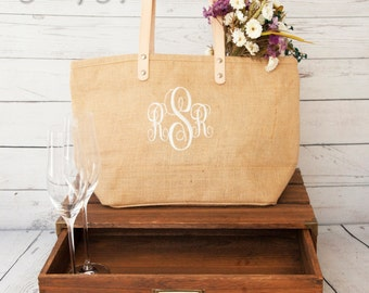 Set of 8 Bridesmaid Tote,Bridesmaid Bags,Jute Tote,Monogram Bridesmaid Tote,Monogram Jute Tote,Bridesmaid Tote Bag,Bridesmaid Proposal,Tote