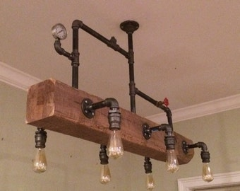 Industrial Chandelier Steampunk Lighting Modern Edison Bulbs
