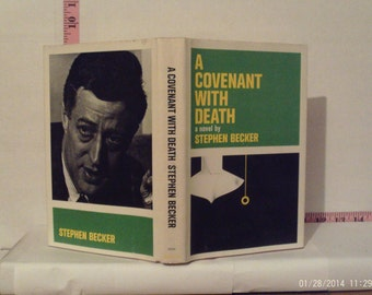 A Covenant With Death by Stephen Becker 1965 Hardcover Book of The Month Club Dust Jacket
