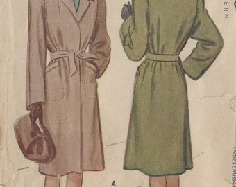 "1944 Vintage Sewing Pattern COAT B34"" (85)"