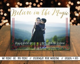 Family Photo Christmas Card, Christmas Family Card, Christmas Photo Card, Holiday Card, Xmas Card, Christmas Magic Card, Greeting Card