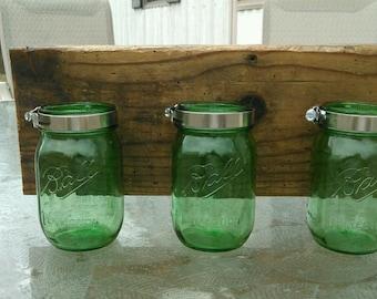 3 mason jar wall organizer