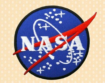 Nasa Star Logo Sign Symbol Iron On Patch Embroidered Sew On Apllique DIY Jeans Patches