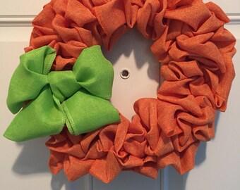 Burlap 12in wreath