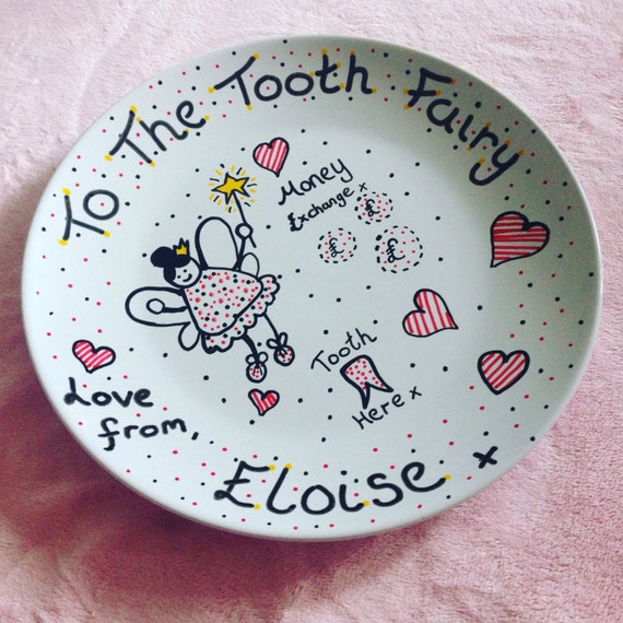 Personalised Tooth Fairy Plate