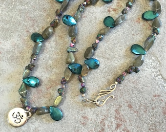 SALE~ Pearl and labrodite necklace
