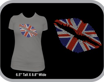 British Kiss Rhinestone  T-shirt