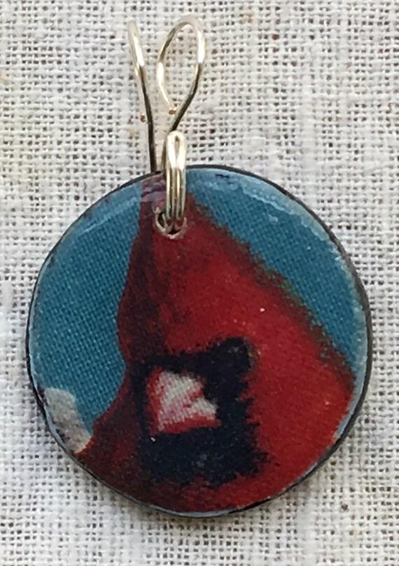 Cardinal pendant, cardinal necklace, cardinal jewelry, bird pendant, cardinal bird, red cardinal, necklace pendant, choker pendant