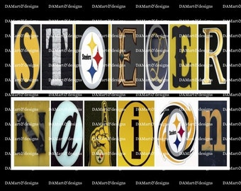 Pittsburgh Steeler Framed Alphabet Photo Art