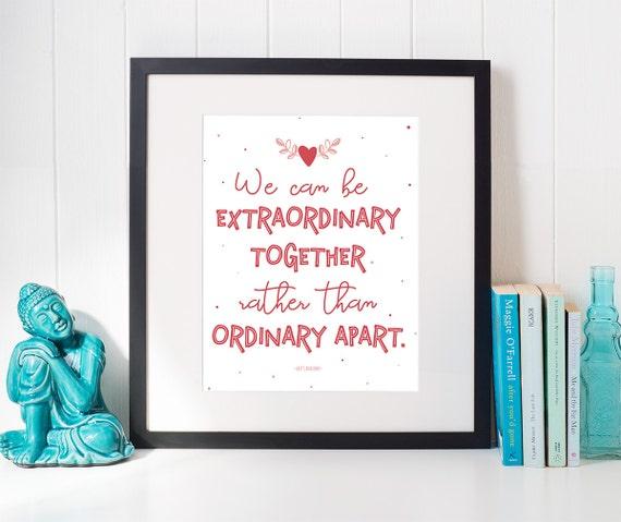 Greys Anatomy Wall Decor : Grey s anatomy quote print we can be extraordinary