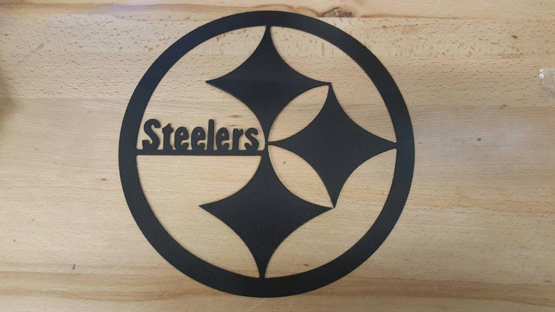 Pittsburgh Steelers Logo Metal Wall Art Plasma Cut Decor