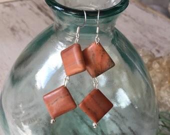 Sandstone Square Earrings