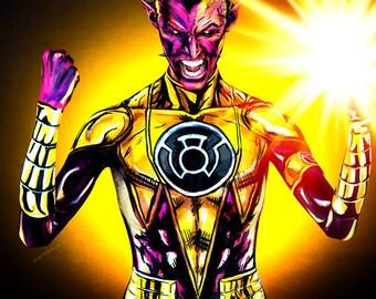 Sinestro Bpdypaint 8.5x11 Print