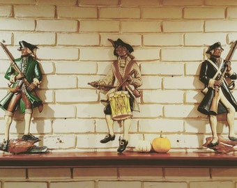 Vintage Revolutionary War Cast Iron Soldiers