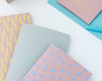 1 pocket notebook 'Spring' - 1 Pocket notebook 'Spring' - art silkscreen printing