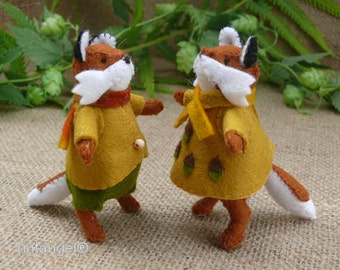 Florian and Flora, the Fox children - PDF pattern - download