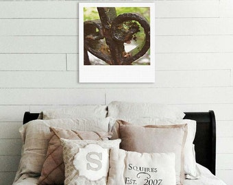 "Custom Polaroid Style Cotton Canvas Print with Copyright Photograph of Edinburgh - ""Love Poem"", 3 sizes available, Home Decor Idea"