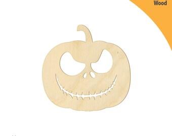Halloween Pumpkin Wood Cutout Shape, Laser Cut Wood Shapes, Crafting Shapes, Gifts, Ornaments Halloween Pumpkin s4