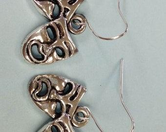 Drama earrings, Theater Earrings, Comic Earrings