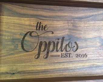 Rustic Serving Tray, Personalized Serving Tray, Wood Tray, Ottoaman Tray, Wine Serving Tray, Tea Serving Tray