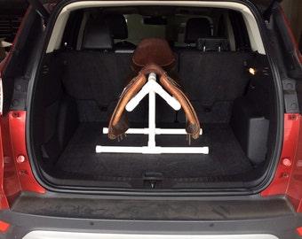 Summer Sale !!   Cool PVC Saddle Rack For Car/Trunk/Back Seat/Hatchback - EZ on Saddle Tree