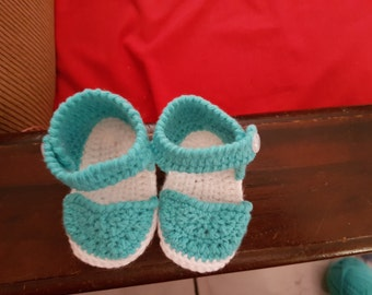 Shoes girl, handmade crochet