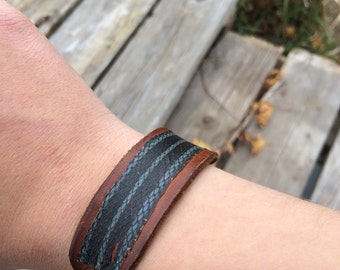Handmade snakeskin bracelet