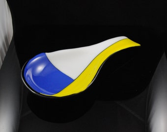 Colorful Fused Glass Spoon Rest