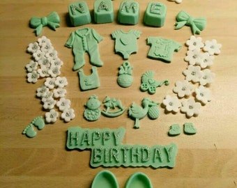 Fondant of decode, decoration, cake toppers, birthday,