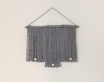 Grey Yarn Wall Hanging