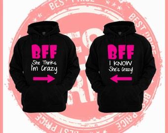 ON Sale TODAY Bff sweaters-best friends Sweaters-bff sweaters-bff pullover- best Friend forever-Brunette Best Friend-BFF sweatshirt