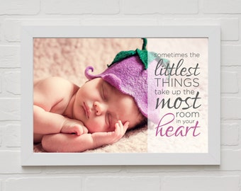 LITTLEST things Print with your OWN picture and FREE Shipping