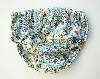 Multi Color Floral Medallion Diaper Cover