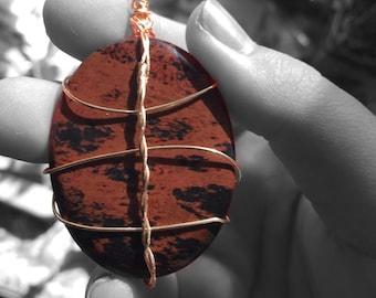 Mahogony Obsidian Pendant