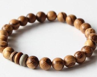 Wooden mala bracelet