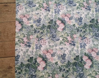 Massive 11 ft.Rectangular Reversible Floral Laura Ashley tablecloth. Large floral tablecloth. Vintage Laura Ashley tablecloth.