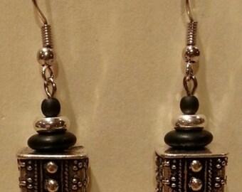 Lightweight metal over acrylic NICKEL FREE earrings