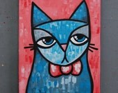 "8x10 Acrylic Cat Painting - ""Maxwell"""