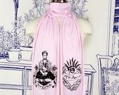 Frida Viva La Vida Screen printed Cotton Scarf