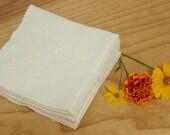organic fleece facial wash cloths - 100% organic cotton and hemp - eco friendly set of 4