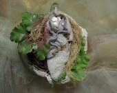 ARTIST SALE Moon Beam Art Doll, Good luck charm doll,  Assemblage Altered Art doll