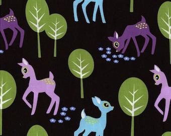 Half yard - Pet Deer in Brown - Michael Miller cotton quilt fabric