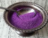Violet Purple German Glass Glitter- half ounce Fine Violet Purple Glass Glitter for Collage, Artisan, Paper Crafting, Shabby Pretty