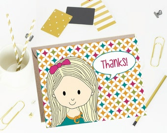 Thank You Note Cards for Kids - Modish - Set of 10