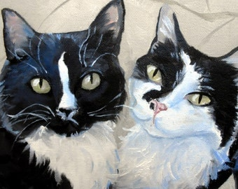 Custom Cat Portrait Oil Painting Art