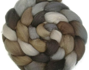 RIVER STONE Handpainted BFL Wool Roving 4 ounces