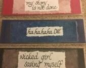 Bookmark - Seanan McGuire song lines